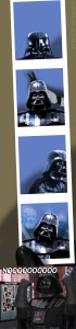 Darth Vader se prend en photo
